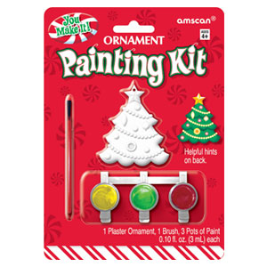Tree Plaster Ornament Kit- 3pc