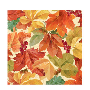 Elegant Leaves Dinner Napkins