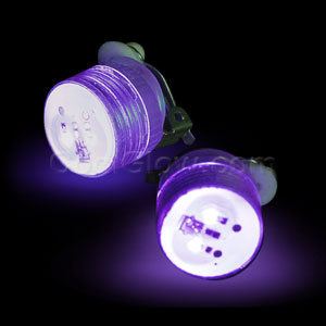 LED Clip On Blinky Light - Purple