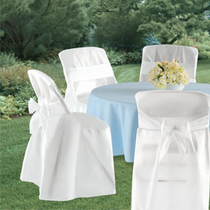 Folding Chair Cover with Sash- 4ct