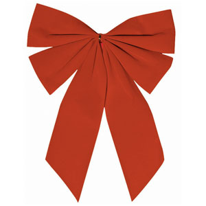 Small Red Holiday Bow- 15 Inch