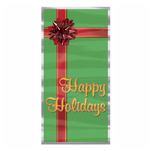 Happy Holidays Door Cover - 5ft
