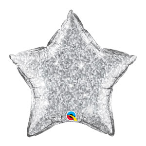 Silver Crystalgraphic Star Balloon - 20 inch