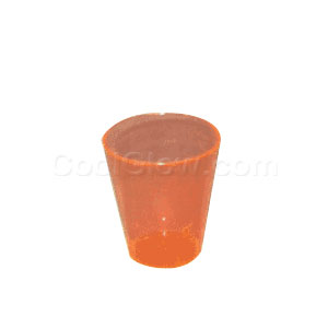 Neon Orange 2 Ounce Shot Glasses - 50 count