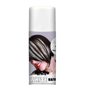 Color Hair Spray- White