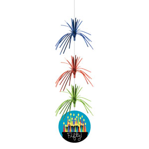 50 Candles Firework Danglers - 3ct