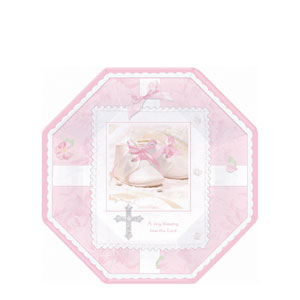 Tiny Blessing Pink Octagonal 7 Inch Plates- 8ct