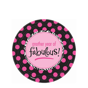 Another Year of Fabulous 7 Inch Plates- 8ct