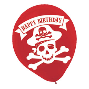 Pirate Birthday Balloon- 6ct