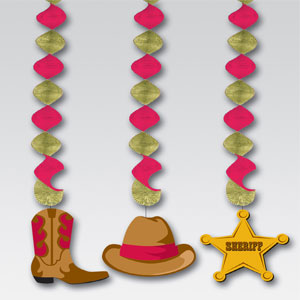 Saloon Dangling Cutouts- 3ct