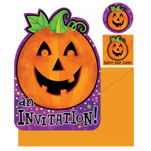 Pumpkin Invitation Pack- 20ct