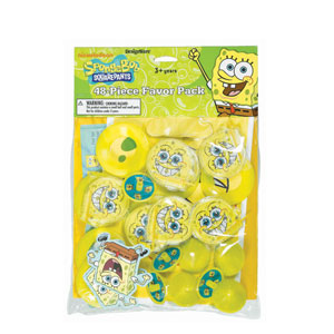 SpongeBob Favor Pack- 48pc
