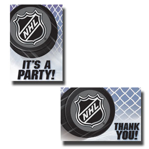 NHL Ice Time Invitation and Thank You Card Set- 16ct