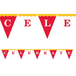 Big Top Birthday Felt Flag Banner- 6ft