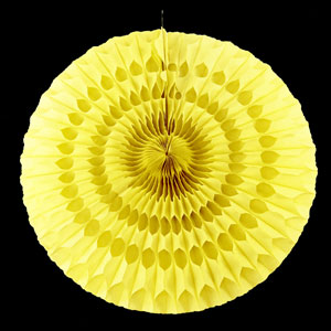 Solid Yellow Paper Fan - 20 Inch