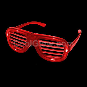 LED Shutter Slotted Shades - Red