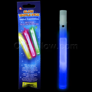 Glow Whistles 6 inch - Blue