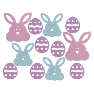 Mini Eggs & Bunnies Cutouts - Assorted