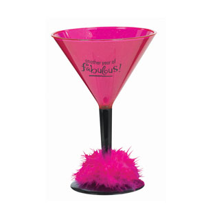 Birthday Fabulous Martini Glass- 12oz