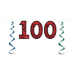 100 Glittered Streamer