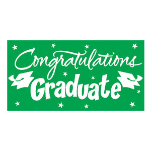 Congrats Grad 10 ft. Banner - Green