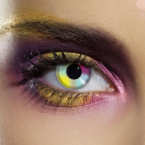 Novelty Contact Lenses - Rainbow Multicolor