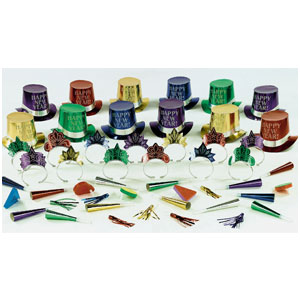 Get The Party Started New Years Party Kit for 25- 50pc