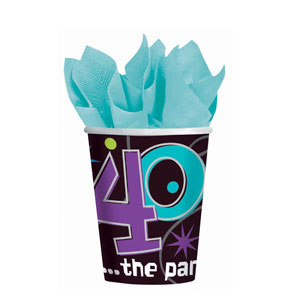 The Party Continues-40 9 oz. Cups- 8ct