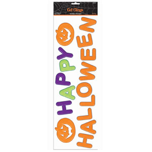 Happy Halloween Gel Clings- 16ct