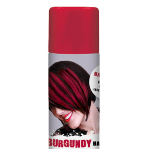 Color Hair Spray- Burgundy