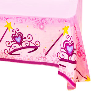 Pink Princess Plastic Tablecover