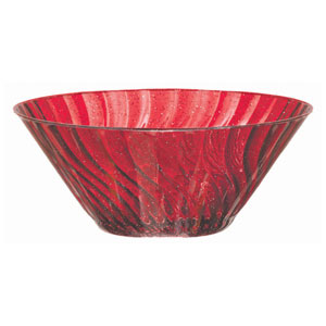Holiday Red Glitter Bowl- 11 Inch
