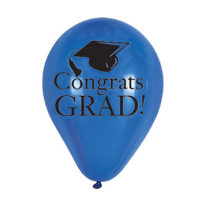 Blue Grad Latex Balloon