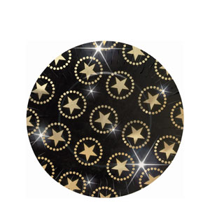 Star Attraction Metallic 10 Inch Plates- 8ct