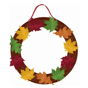 Glitter Fall Wreath- 14 Inch