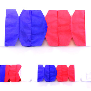 Patriotic Paper Garland - 12ft