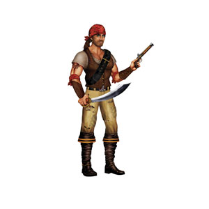 Swashbuckler Cutout - 34 inches