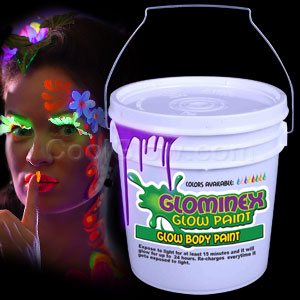 Glominex Glow Body Paint 128oz Bucket - Purple