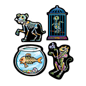 Day of the Dead Pet Cutouts - 4ct