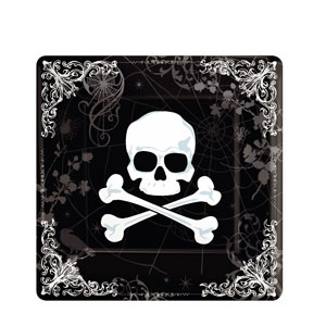 Skull and Bone 10 Inch Plates- 18ct