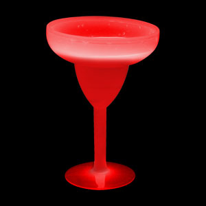 Glow Margarita Glass 10 oz. - Red