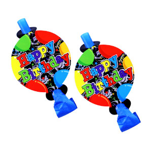 Birthday Balloons Blowouts - 8ct