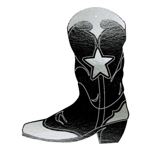 Black Cowboy Boot Cutout- 16 Inch