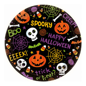 Spooktacular 9 Inch Plates- 60ct