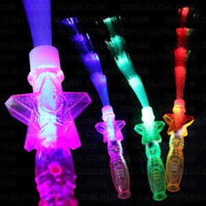 LED Fiber Optic Star Wand - Assorted