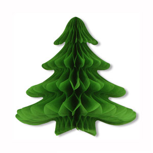 Tissue Hanging Christmas Tree - 23in x 25in