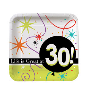 Life is Great at 30 Luncheon Plates - 8ct