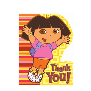 Dora Thank You Cards- 8ct