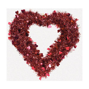 Red Heart Metallic Wreath