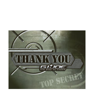 GI Joe Thank You Cards- 8ct
